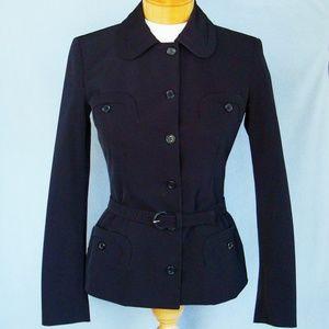 Prada black fitted jacket with belt